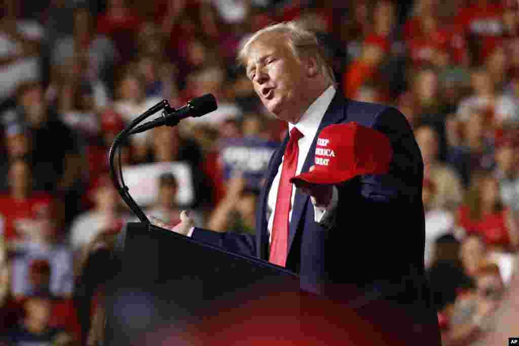 سخنرانی پرزیدنت ترامپ در یک کمپین انتخاباتی در منچستر، ایالت نیوهمشایر