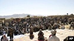 美军帮助阿富汗建立的一处女子学校举行奠基仪式