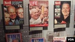 西方杂志封面上的赫鲁晓夫(美国之音白桦拍摄)