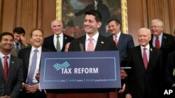 پل رایان رئیس جمهوریخواه مجلس نمایندگان طرح پیشنهادی برای اصلاح مالیات را اعلام کرد.