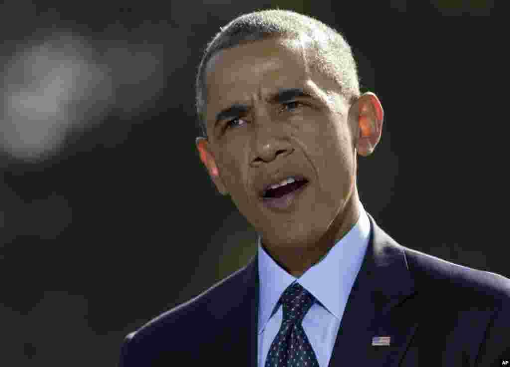 """У вівторок Обама заявив, що США воюють проти """"ісламської держави"""" спільно з широкою коаліцією країн, і що Америка не допустить існування """"зон безпеки"""" для терористів."""