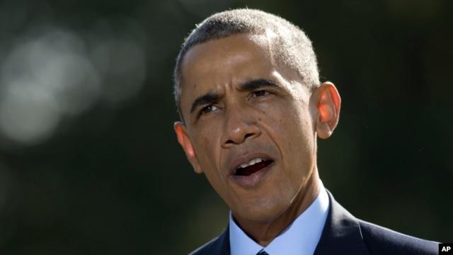 Tổng thống Obama nói về các cuộc không kích chống nhóm Nhà nước Hồi Giáo ở Syria, ngày 23/9/2014.