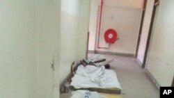 Wagonjwa kwenye hospitali ya Muhimbili wamelazwa chini kutokana na ukosefu wa huduma