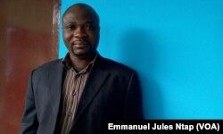Serges Aimé Bikoi, sociologue en développement, à Yaoundé, le 22 novembre 2017. (VOA/Emmanuel Jules Ntap)
