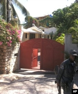 Entrance to President Michel Martelly's house in Peguyville, Haiti