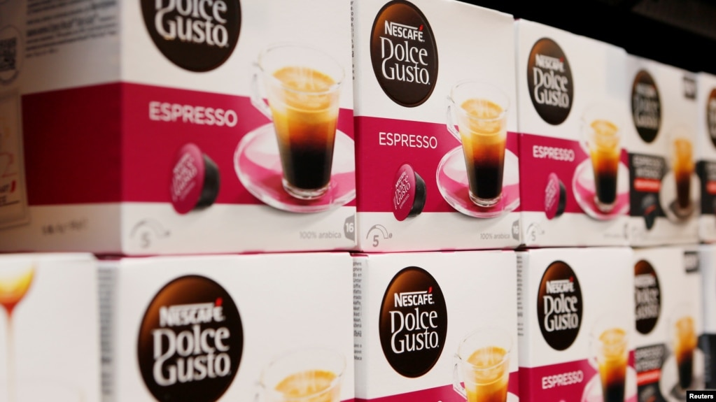 FILE - Instant coffee maker Nescafe boxes are pictured in the supermarket of Nestle headquarters in Vevey, Switzerland, February 16, 2017. (REUTERS/Pierre Albouy)