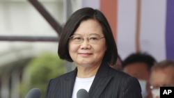 台湾总统蔡英文2020年10月10日发表国庆演说(蔡英文脸书截图)