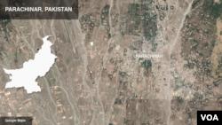 Letak wilayah Parachinar, Pakistan.