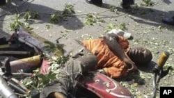 Dünkü saldırıda hayatını kaybeden bir motosiklet sürücüsü
