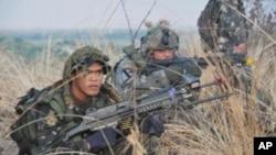菲美聯軍演習清晨突襲
