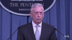 U.S. Defense Secretary Mattis Briefs Reporters in Syria Strikes