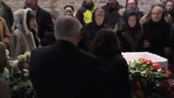 مراسم آخرین وداع و خاکسپاری رهبر مخالفان روسیه