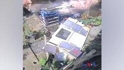 گارڈن شیڈ میں دھماکے کے بعد آگ لگ گئی