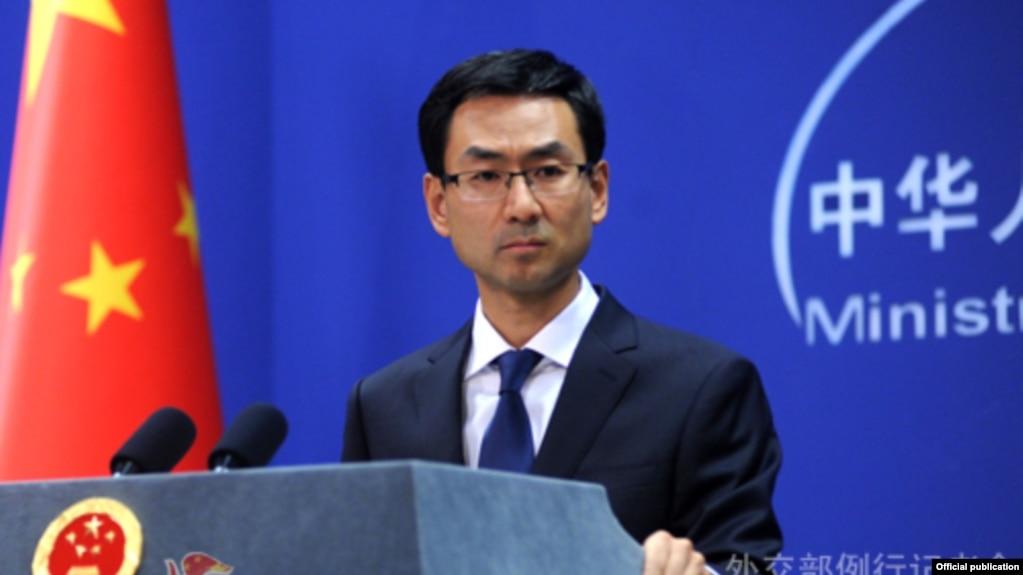 တ႐ုတ္ႏုိင္ငံျခားေရး ၀န္ႀကီးဌာန ေျပာခြင့္ရသူ Geng Shuang (the ministary of foreign affair)