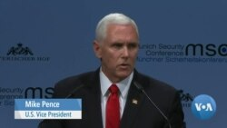 Pence Rebukes Europe for Iran, Venezuela, Russia Links