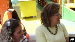 Mexican journalist Ana Maria Marcela Yarce Viveros (L) and Rocio Trapaga Gonzalez are seen in this undated file photo.