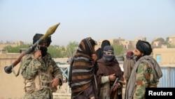 阿富汗加茲尼省的塔利班武裝分子(資料照)