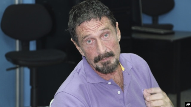 In this image released by Guatemala's National Police, software company founder John McAfee is pictured after being arrested for entering the country illegally in Guatemala City, Dec. 5, 2012.