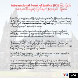 ICJ Provisional Measures Gambia vs Myanmar