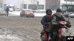 Bão tuyết cản trở giao thông ở Trung Quốc