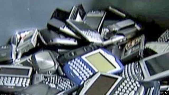Recycled cell phones and PDAs