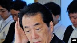 ທ່ານ Naoto Kan ນາຍັກລັດຖະມົນຕີຍີ່ປຸ່ນ ທີ່ກອງປະຊຸມຄະນະ ລັດຖະບານ ຢູ່ບ້ານພັກທາງການຂອງທ່ານ ທີ່ກຸງໂຕກຽວ, ວັນທີ 22 ມິຖຸນາ 2011