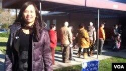 6일 미국 선거에 참여한 한 아시아계 유권자.
