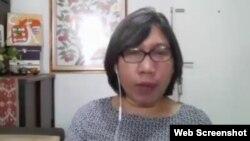 Komisioner Komnas Perempuan, Theresia Iswarini saat memberikan keterangan terkait RUU Perlindungan PRT, Senin 15 Februari 2021. (Foto:VOA)