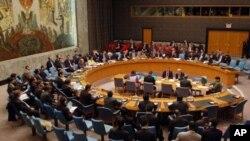 북한의 장거리 미사일 발사에 관한 유엔 안보리회의 (자료사진)