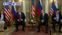 VOA60 America - Trump Fails to Blame Putin for Election Meddling
