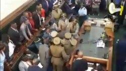 Zimbabwe Police Scuffle with Opposition Legislators Over Refusal to Acknowledge President