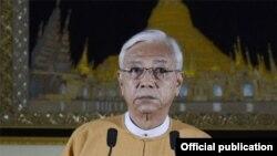 ႏိုင္ငံေတာ္သမၼတ ဦးထင္ေက်ာ္ Photo: Myanmar President Office