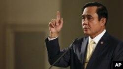 PM Thailand Jenderal (Purn.) Prayuth Chan-ocha (foto: dok). HRW mendesak pemerintahan Prayuth Chan-ocha untuk membebaskan seorang pengecamnya.
