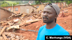 Wonder Tom in Chimanimani district lost his 82-year-old grandmother when Cyclone Idai hit the area March 16. He hopes the sniffer dogs from South African police will help those who lost their relatives find their remains so they can give her a proper burial.