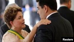 El encuentro entre Maduro y Biden ocurrió durante los saludos protocolares a la presidenta de Brasil, Dilma Rousseff.