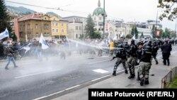 Sukob policije i ratnih veterana, Sarajevo, 05. septembar 2018.