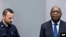 L'ex-président ivoirien Laurent Gbagbo, incarcéré depuis 2011 à La Haye où il est jugé par la Cour pénale internationale (CPI, 28 janvier 2016