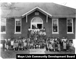 May's Lick Rosenwald School in Maysville, Kentucky, in the early 1900s. (Courtesy Mays Lick Community Dev. Board)