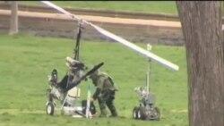 美國郵遞員駕小型直升機降落國會草坪