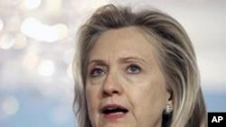 U.S. Secretary of State Hillary Clinton (file photo).