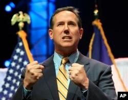 Ông Rick Santorum, cựu thượng nghị sĩ đại diện tiểu bang Pennsylvania, đề cập tới những ảnh hưởng tiêu cực của di dân bất hợp pháp đối với giới lao động ở Mỹ.