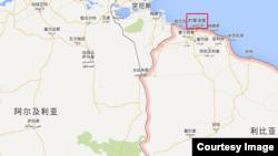 利比亚的黎波地图 (谷歌地图)