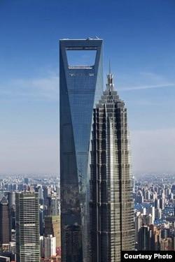 中國目前第二高的摩天大樓上海環球金融中心
