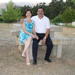 Maria and Abel Cerqueira, visiting their hometown in northern Portugal earlier this year