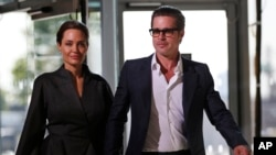FILE - U.S. actress Angelina Jolie and partner actor Brad Pitt.