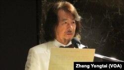 台灣前民進黨主席施明德 (美國之音張永泰拍攝)
