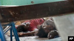 총격사건이 일어난 케냐 동부의 아프리카내륙교회 현장