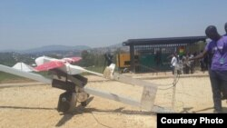 FILE - Zipline International is using drones to deliver vaccines, medicine and blood to Rwanda.