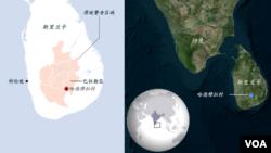 斯里兰卡哈德穆拉村滑坡地理位置(必应地图)