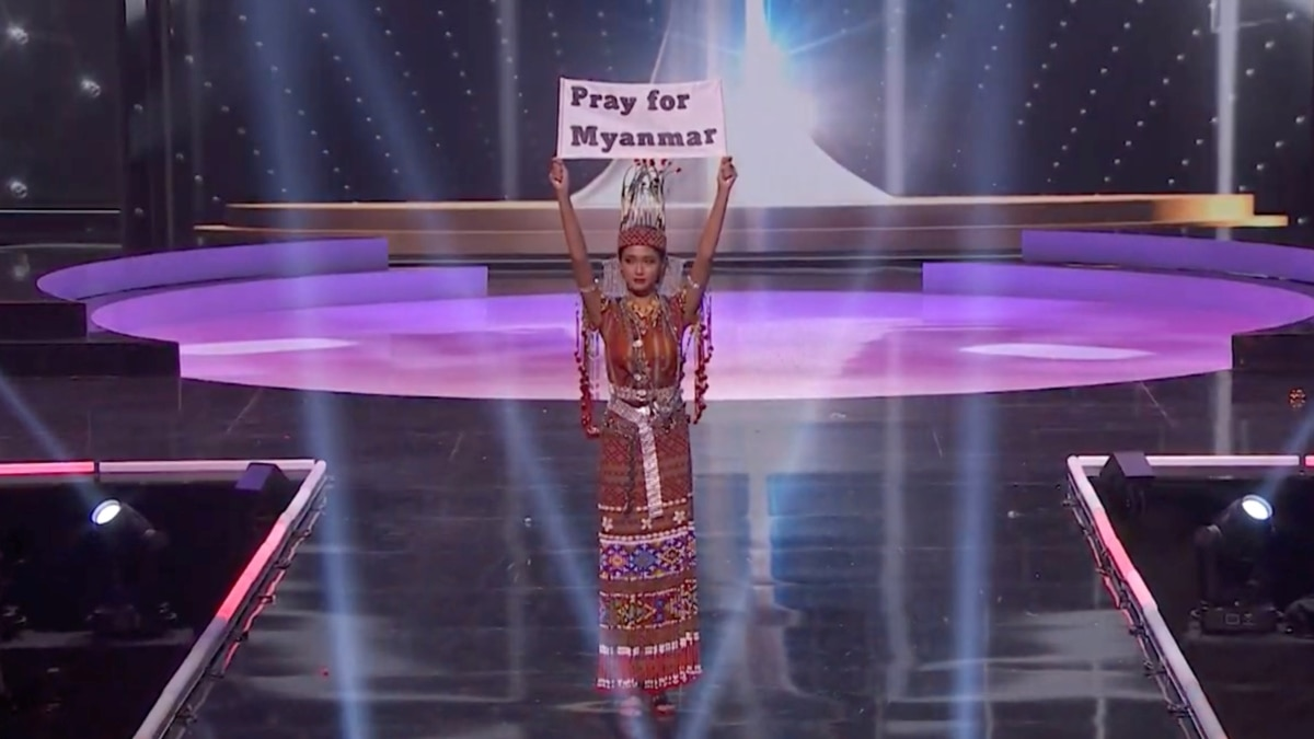 Myanmar's Miss Universe Contestant: 'Our People Are Dying'